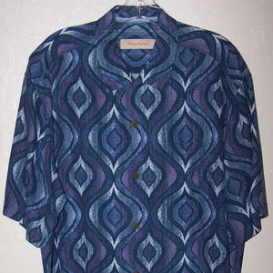 TOMMY BAHAMA 100% SILK CASUAL CAMP SHIRT S3404